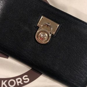 MK wallet Black leather Gently used